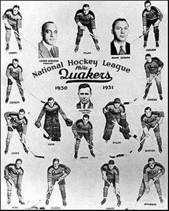 1930-31 Philadelphia Quakers team photo 1930-31 Philadelphia Quakers team collage.jpg