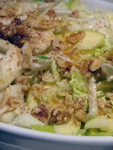 fennel, apple, nuts salad - insalata finocchi, mele e noci