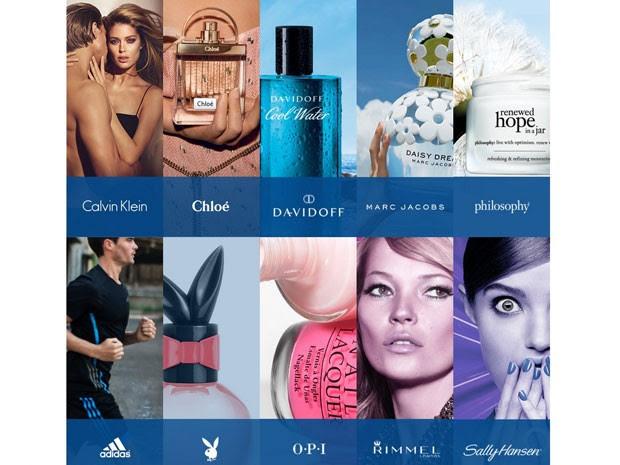 Marcas da empresa global Coty (Foto: Reprodução/Coty)