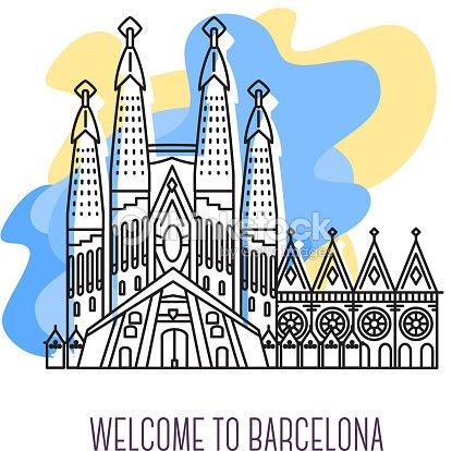 サグラダ ファミリアのベクター イラストですバルセロナのランドマーク
