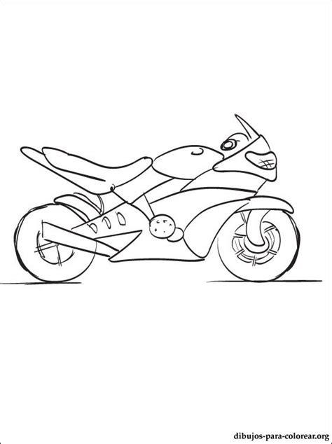 dibujo de motocicleta  colorear dibujos  colorear