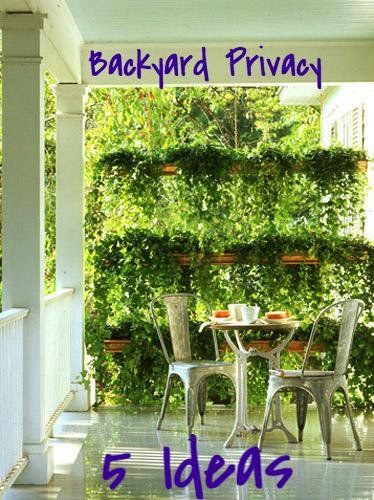 Landscaping ideas for backyard privacy