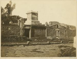 Street of the tombs, Pompeii. Digital ID: 1621122. New York Public Library