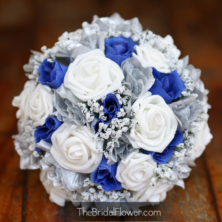 Royal Blue And Silver Wedding Flowers Flowers Healthy