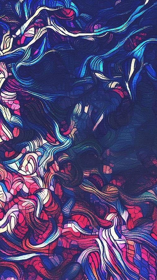 Dreaming, Iris Oil Painting by Linda McCoy, painting by Linda McCoy