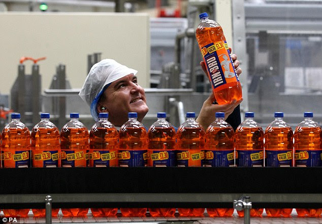 Illegal: Irn-Bru also made the list for containing the red food colouring Ponceau 4R (file photo)
