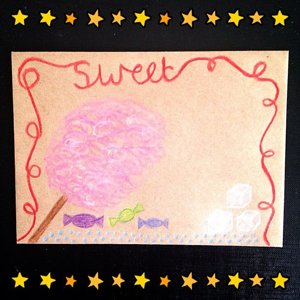 Day 15: sweet #candylaces #candyfloss #sweets #sugarcubes #millions #doodleadaymarch #doodleaday #envelope #snailmail