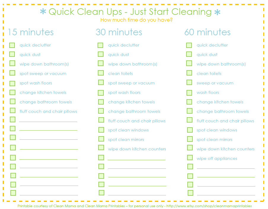 Quick Clean Ups with Clean Mama - The Idea Room