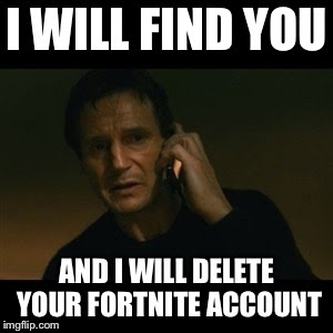 how to delete a fortnite account