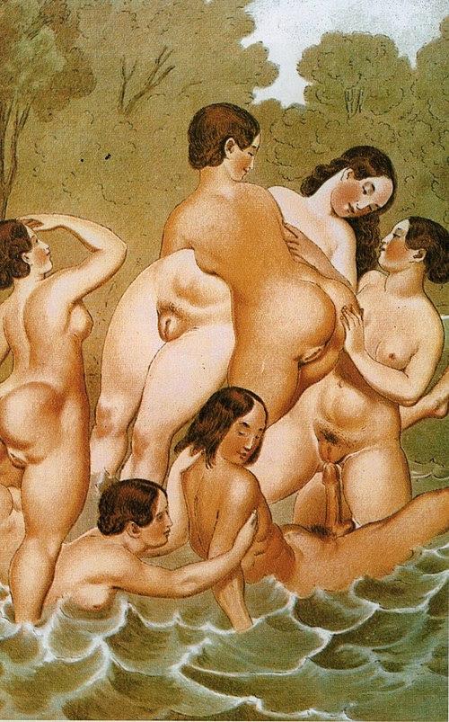 Peter Fendi scene erotique