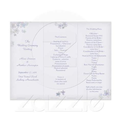 Lavender Art Tri Fold Wedding #Program Template   Brennan