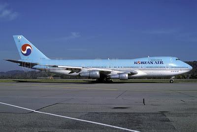 Korean Air Boeing 747-2B5B HL7454 (msn 22482) ZRH (Rolf Wallner). Image: 913548.