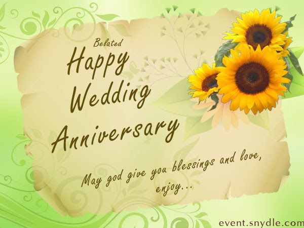 Happy Belated Wedding Anniversary Quote Pictures Photos And Images