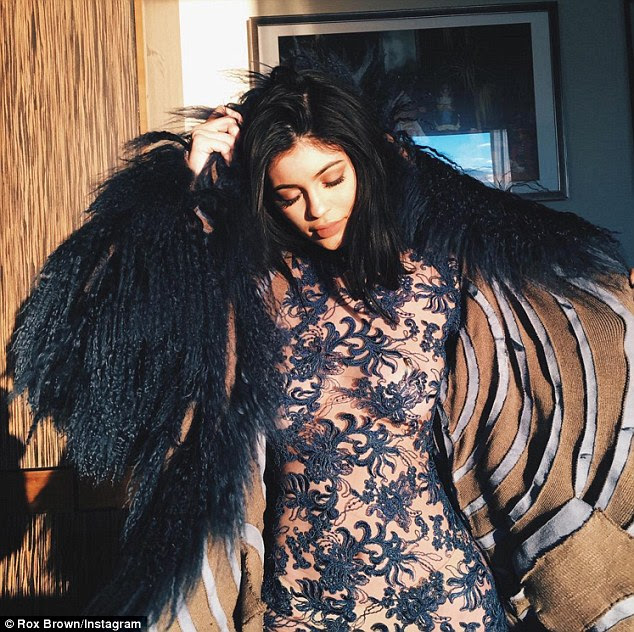 Oh la, la! Kylie Jenner dared to bare at the V Files New York Fashion Week show on Wednesday night in a seriously sexy sheer lace jumpsuit