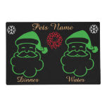Graphic design santa bells reef pets christmas laminated placemat