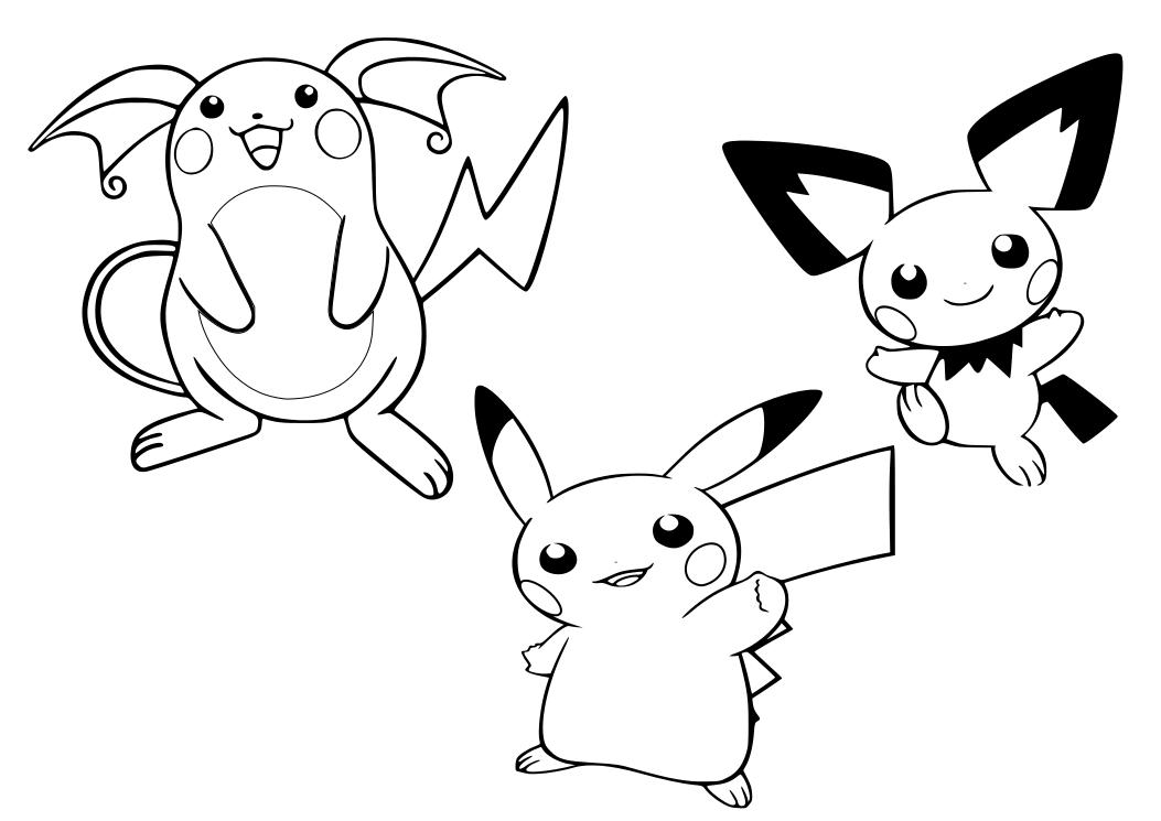 Dibujos Para Colorear Pikachu Az Dibujos Para Colorear
