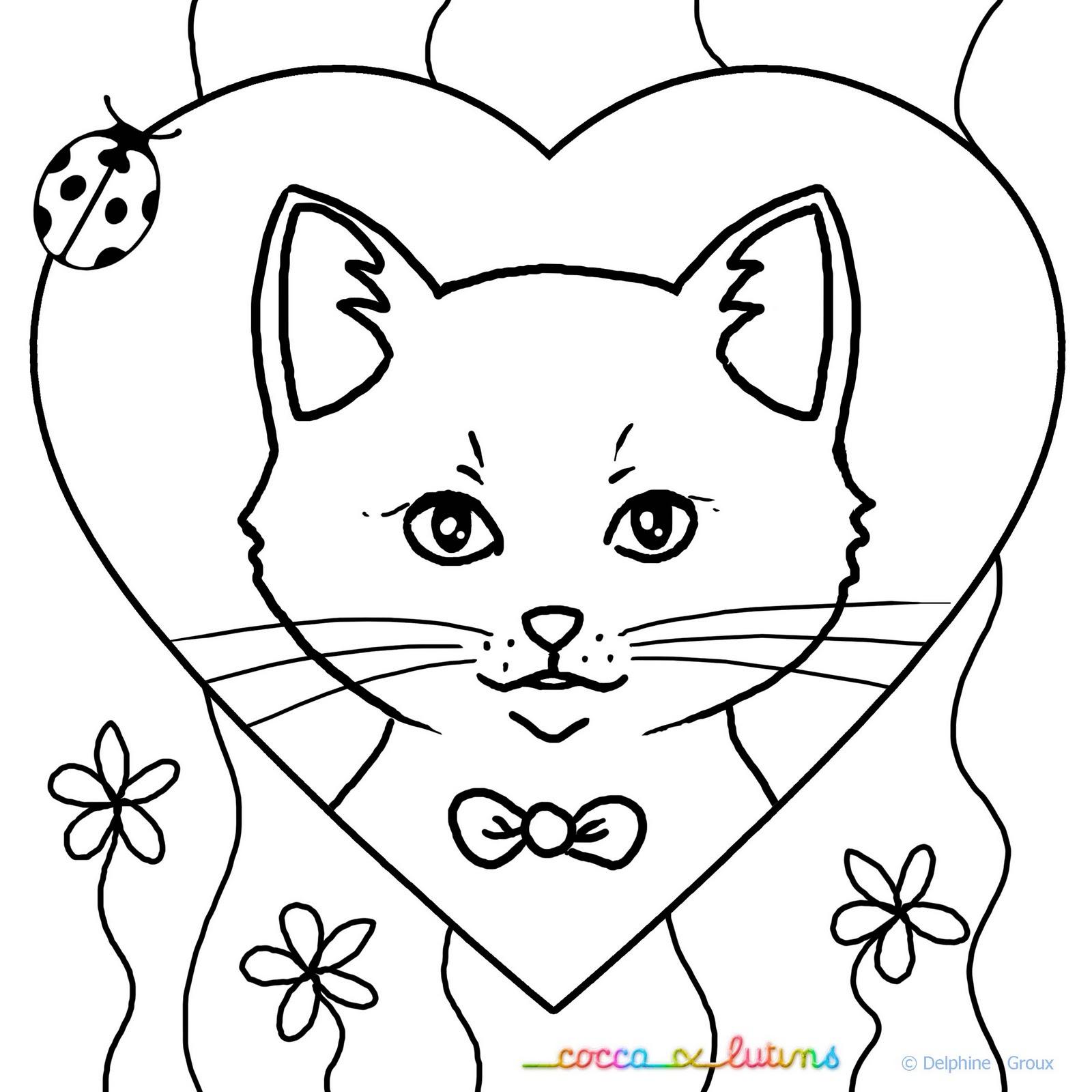 Coloriage  imprimer Animaux Chat numéro
