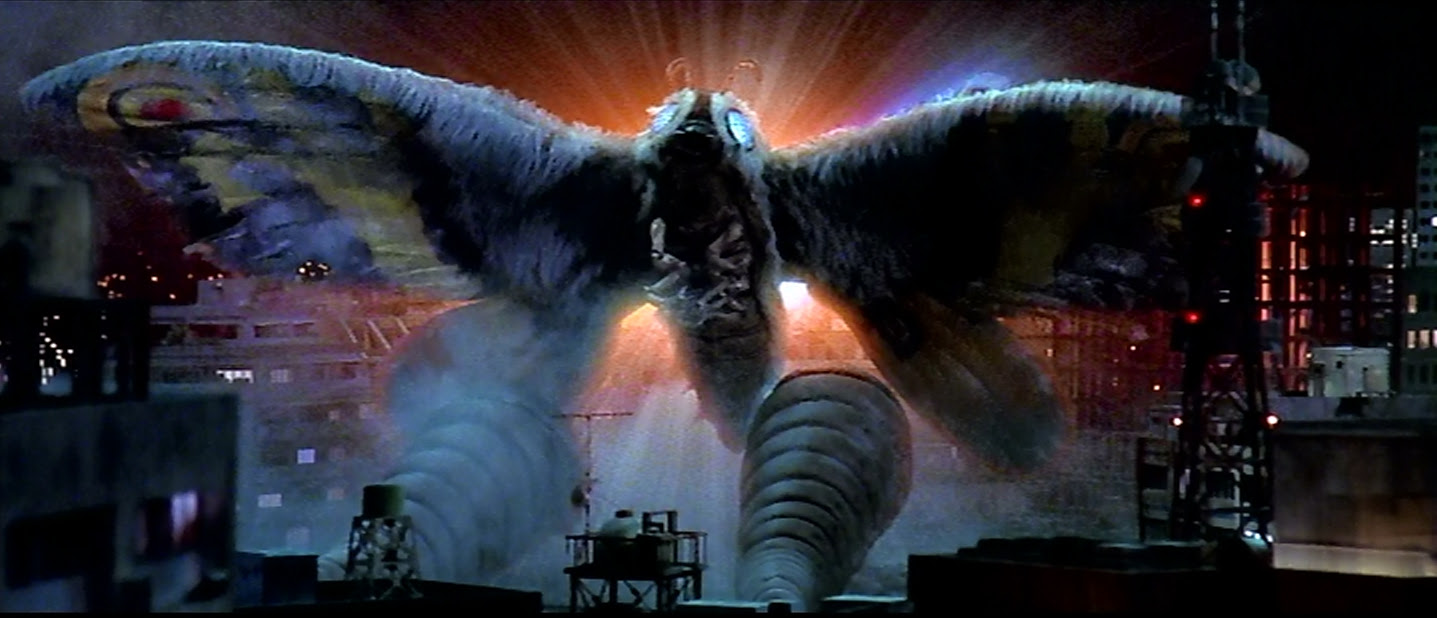 Mothra takes one for the team.