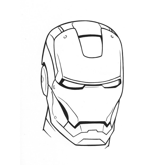Iron Man Mask Drawing At Getdrawingscom Free For Personal Use