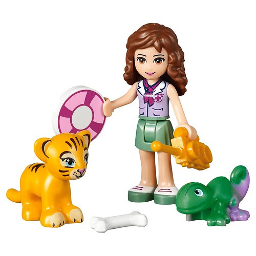 LEGO Friends Jungle Falls Rescue #41033 Olivia & Tiger cub & Chameleon