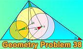 Problema 38: Triangulo rectángulo, Altura, Incentros, Ángulos.