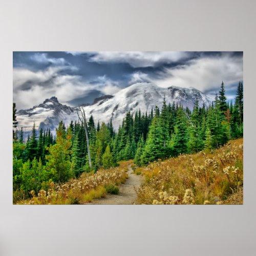 Mount Rainier HDR print