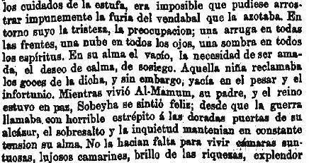 Leyenda de La Peña del Moro publicada en La Amérca por Eugenio de Olavarria y Huarte. Página 13