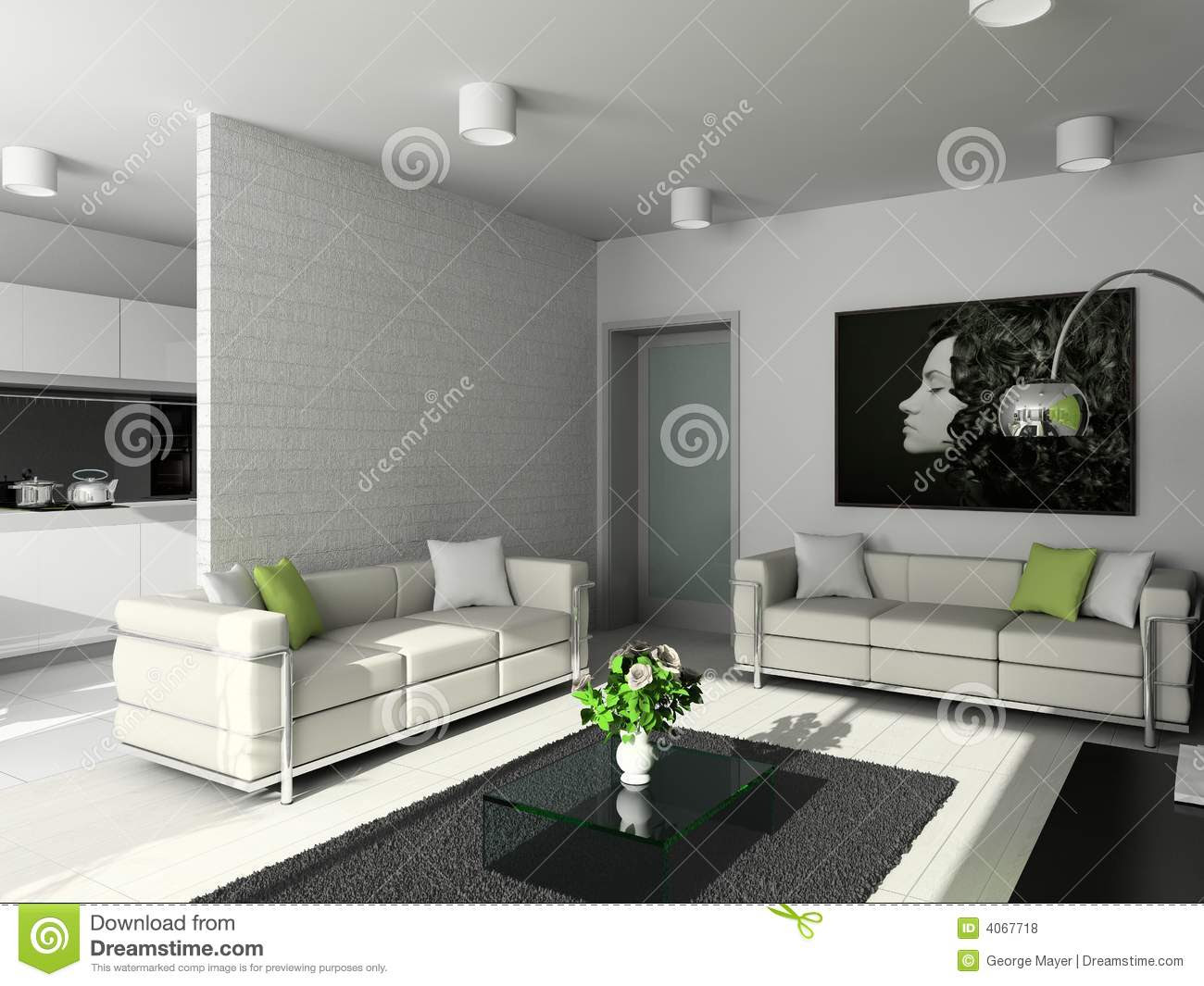 Interior Design - Family Area Stock Image - Image of ...