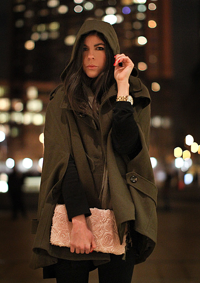 Asos cape, Balenciaga Platform loafers, fashion, Marc Jacobs watch, New York Fashion Week at Lincoln Center