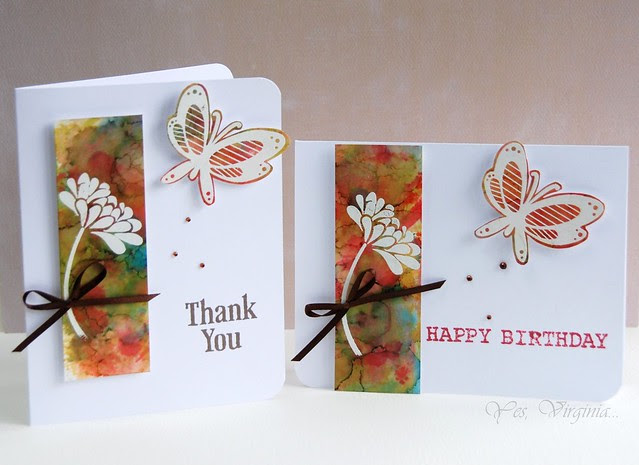 card with alchohol inks
