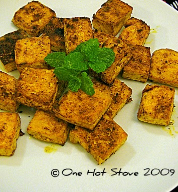 One hot stove tandoori style tofu for Awesome cuisine authors mallika badrinath