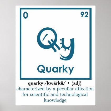 Quarky Definition Poster