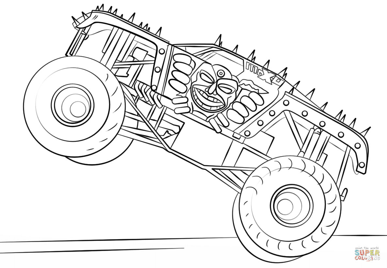 Ausmalbild: Max-D Monster Truck | Ausmalbilder kostenlos ...