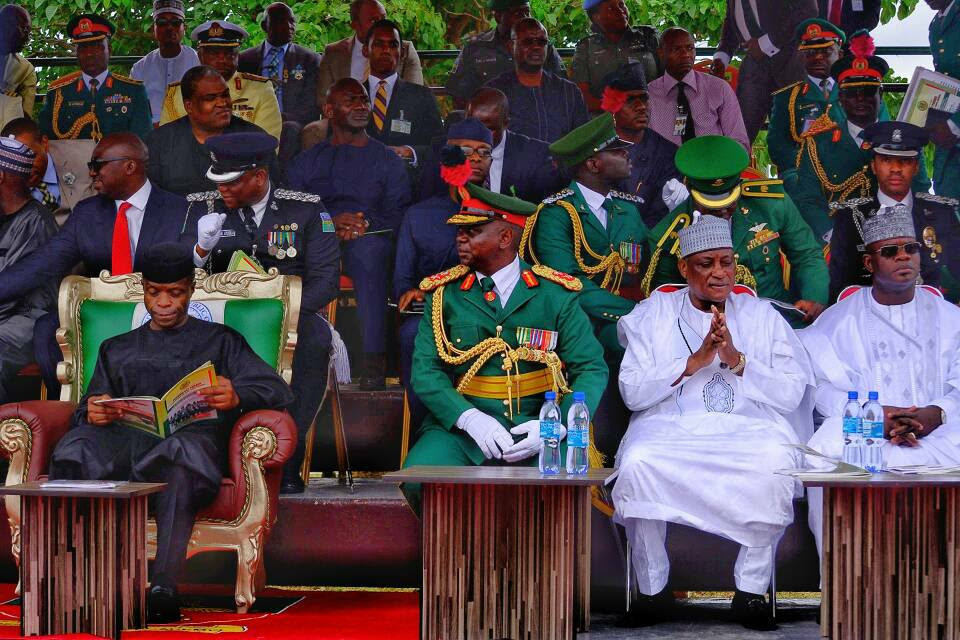 Osinbajo, El-Rufai, Others Attend Nigerian Defence Academy Pass-Out Parade (Photos)