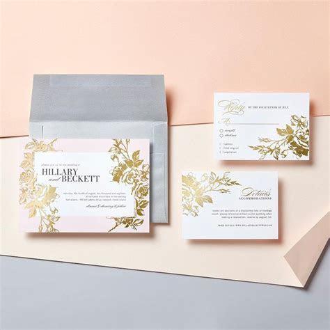 Eternal Romance 5x7 Wedding Invitations   Foil Stamped