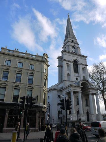 Christ Church and Ten Bells Pub, Spitalfields by Yekkes