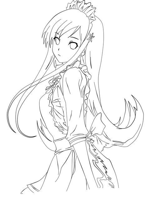 anime girl lineart   link  deviantart