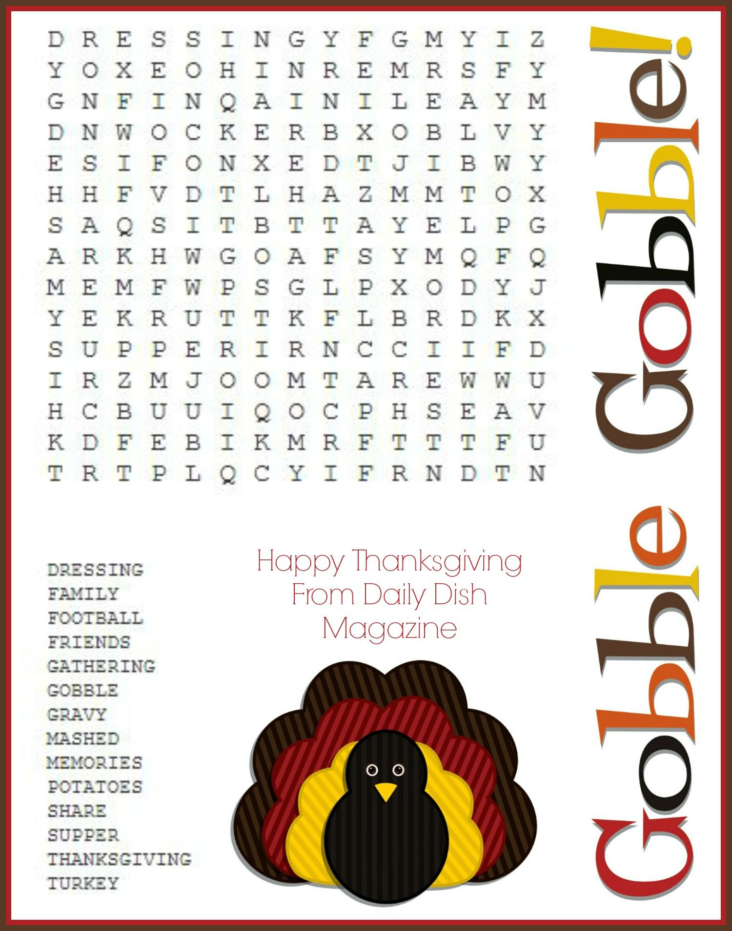 1000+ images about Thanksgiving Puzzels on Pinterest | Maze ...