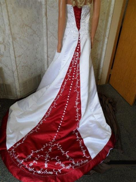 Red and white wedding dresses.