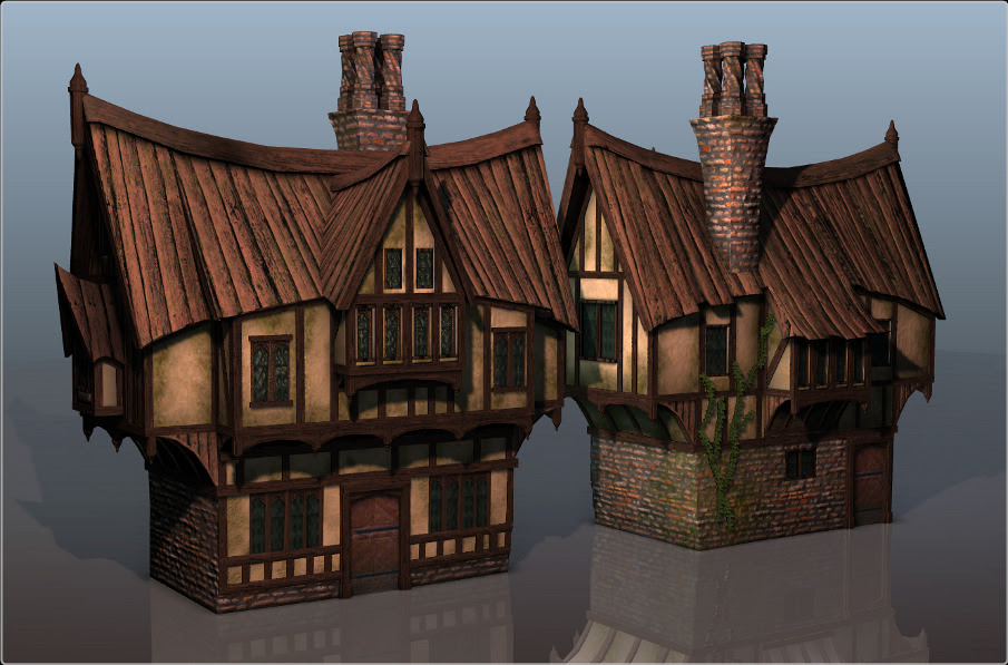 Stylized Tudor House Arctic Furnace