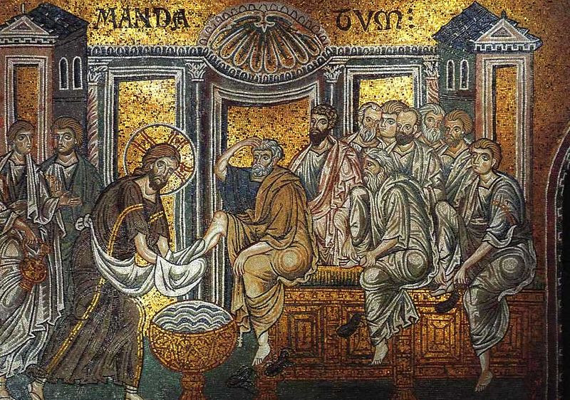File:Christ washes apostles' feet (Monreale).jpg