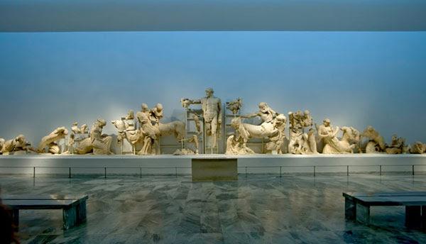 Μουσείο Αρχαίας Ολυμπίας: το δυτικό αέτωμα του Ναού του Διός