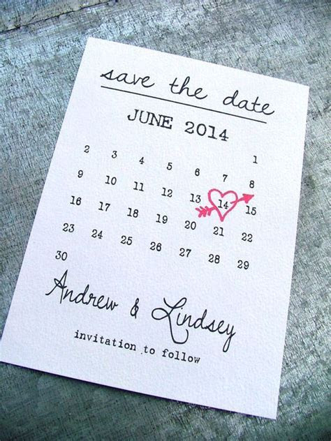 Printable Save the date cards heart date save by