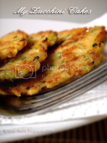 zucchini cakes, zucchini, Food For Tots