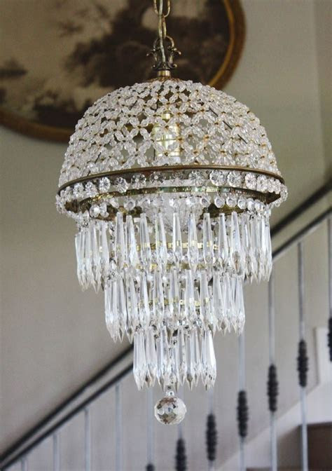 Antique Beaded Dome Wedding Cake Chandelier antique