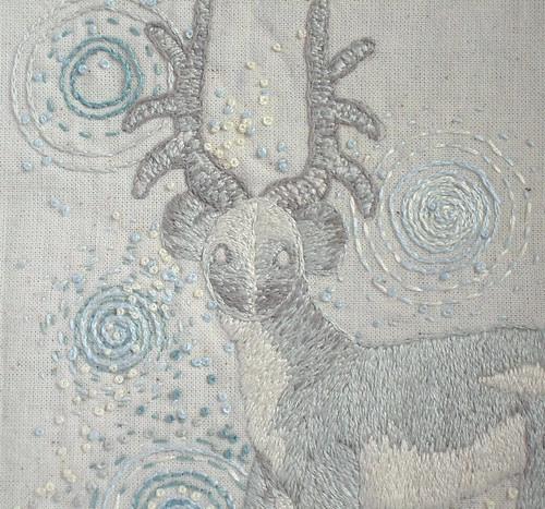 Moon deer closeup
