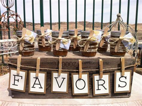 Rustic Wedding Shower Favors. Mason Jar Favors. Organic