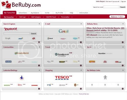 BeRuby Personalized Homepage