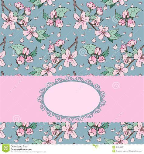 Cherry Blossom Invitation Card Stock Illustration   Image