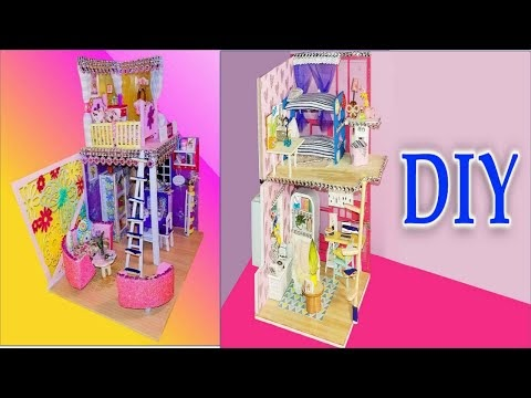 Diy Two Dollhouse Bedroom | Full house for dolls | how to make doll rooms